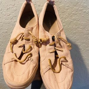 Sperry light pink sneakers